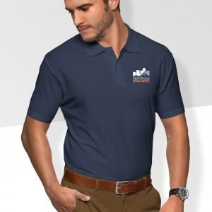 Restoration Builders' Navy Polo - Men