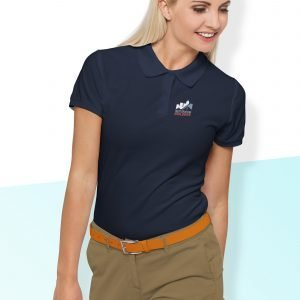 Restoration Builders' Navy Polo - Women